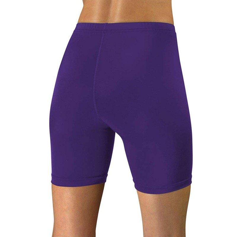 womens bike shorts purple