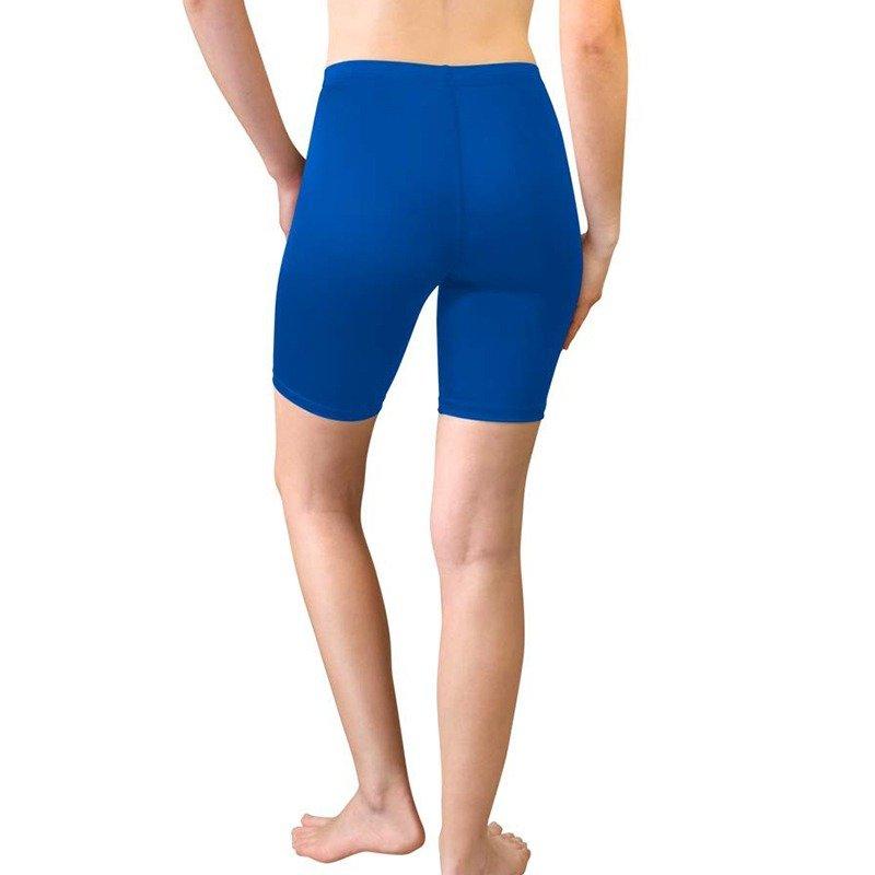womens bike shorts blue