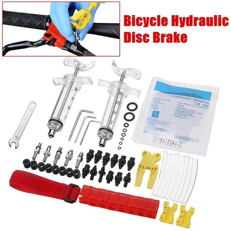 hydraulic bike brakes bleeding