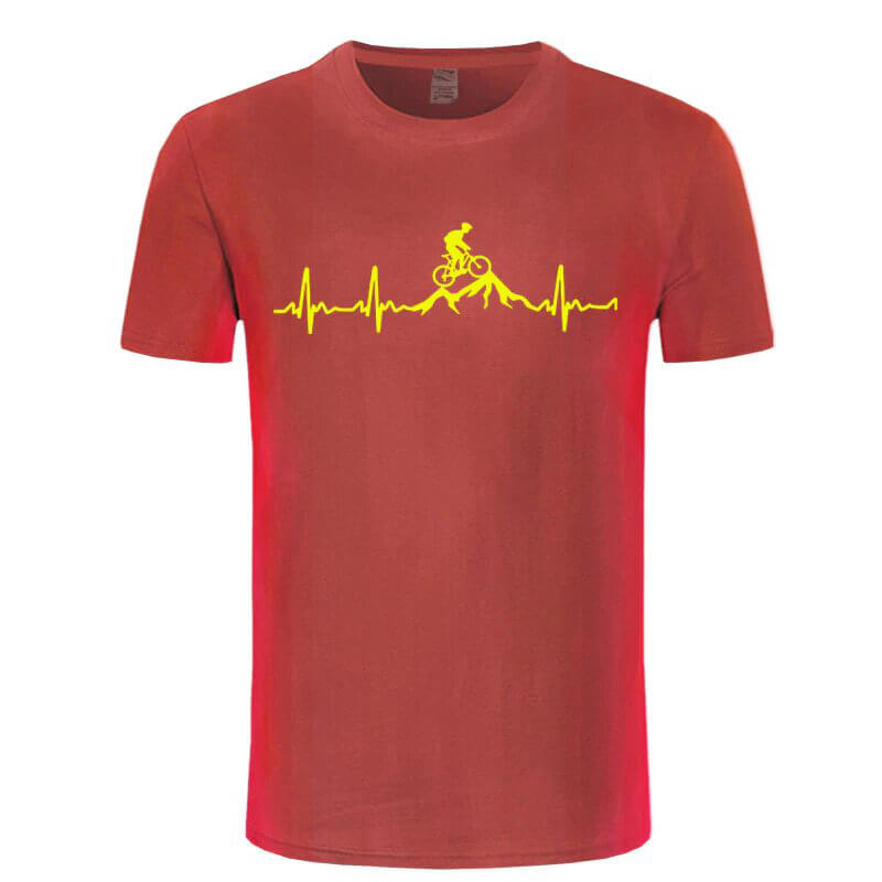 mountain bike heartbeat t shirt