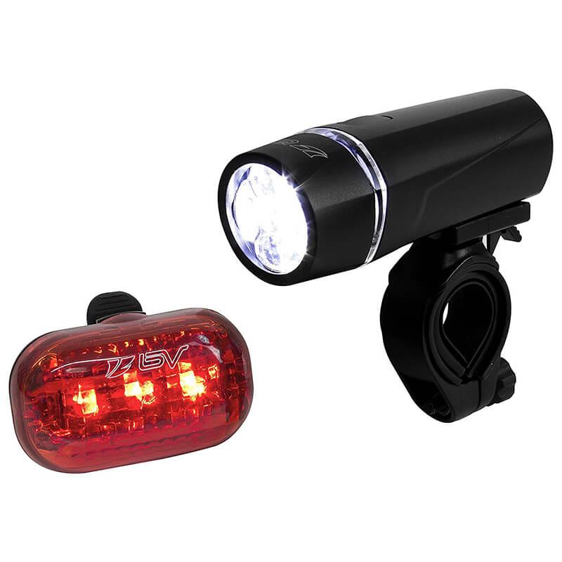 Bicycle Light Set Super Bright 5 LED Headlight, 3 LED Taillight