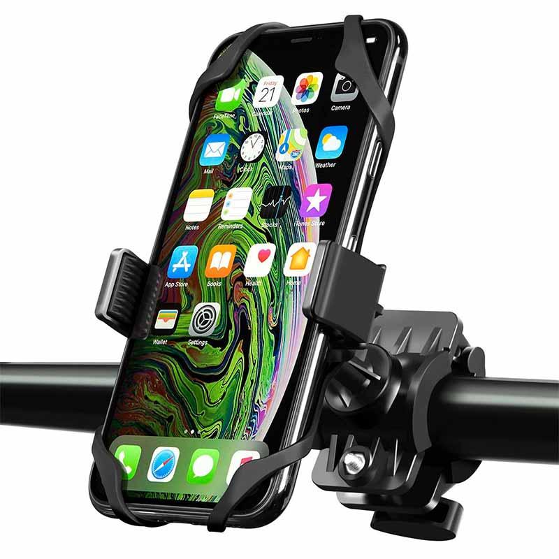 rubber band bike phone mount