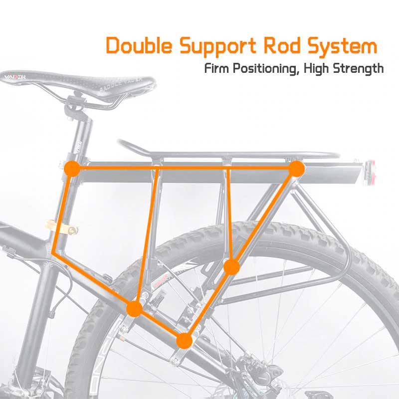 Heavy Duty Rear Luggage Rack for Bicycle